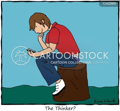 contemplation cartoon
