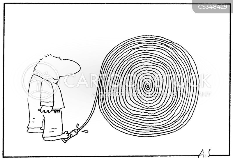 spiral cartoon