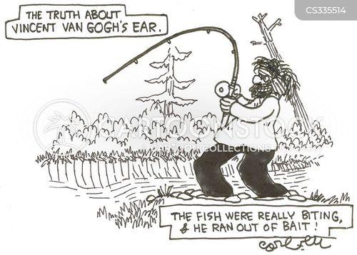 fish baits cartoon