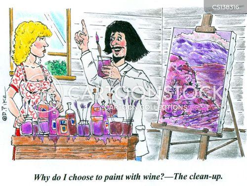 oil paint cartoon