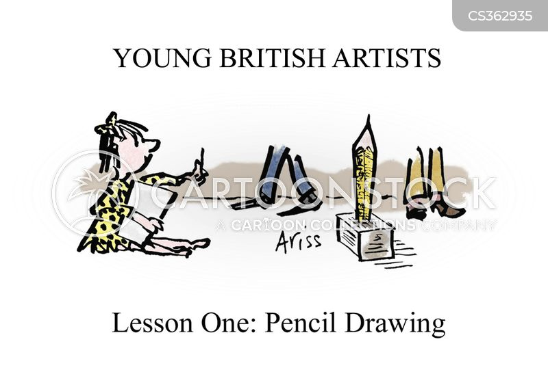 young artist cartoon