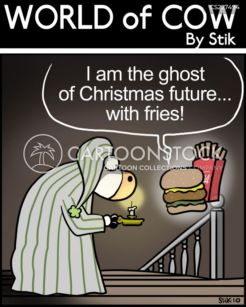 christmas ghost cartoon