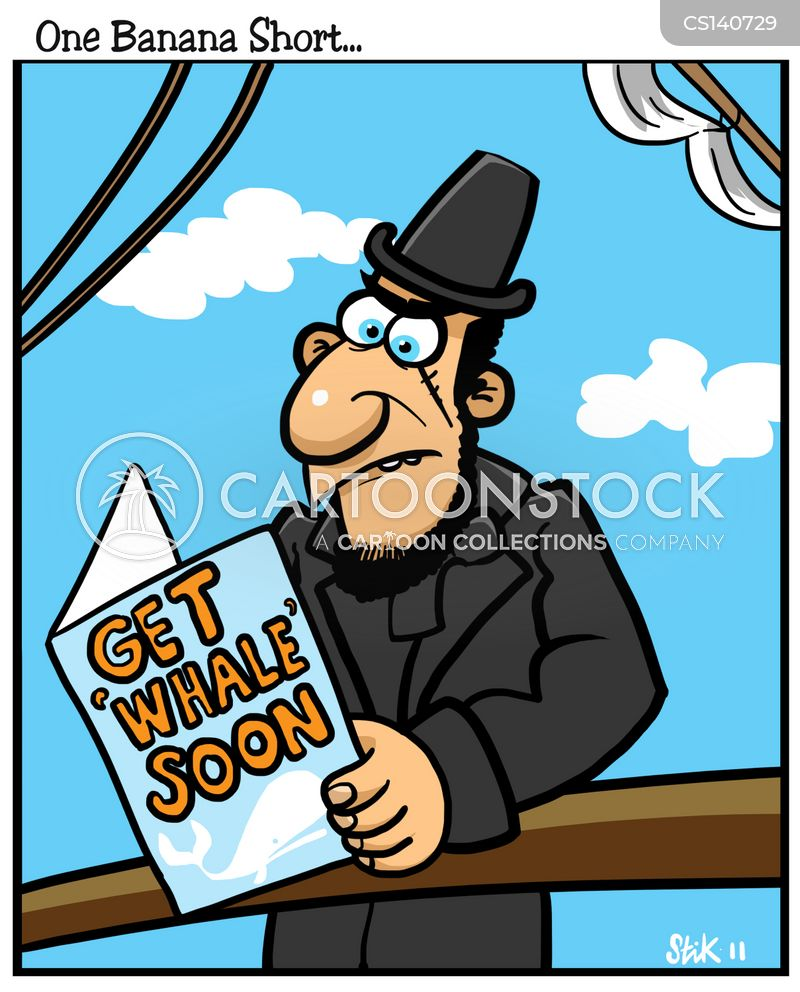 whale hunt cartoon