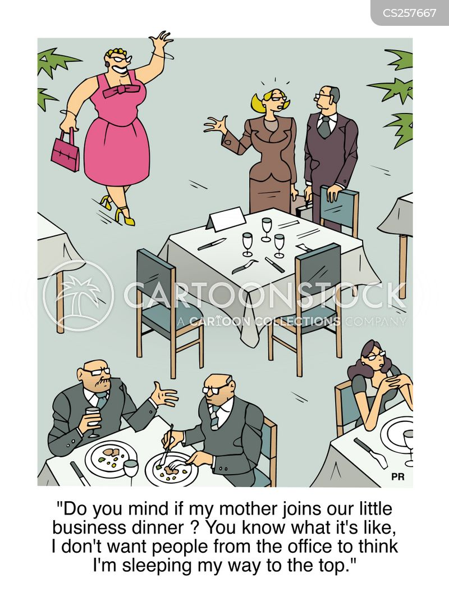 business dinner cartoon