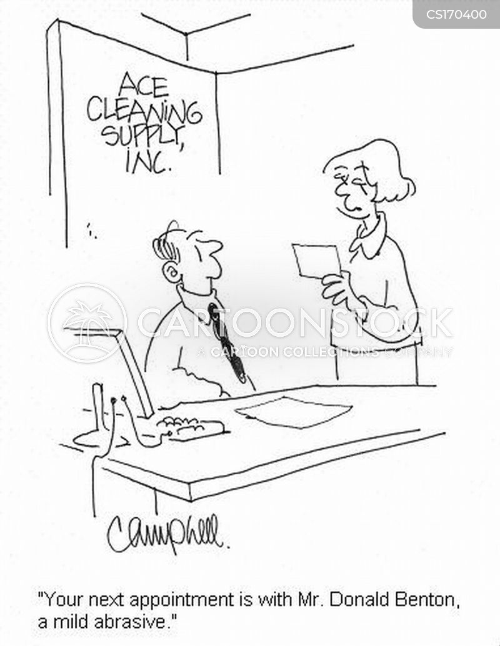 cleaning supplies cartoon
