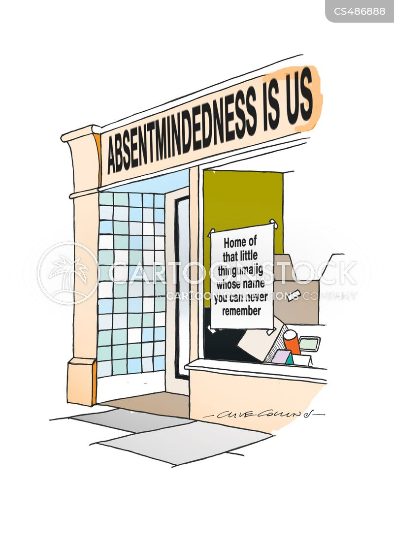 absentmindedness cartoon