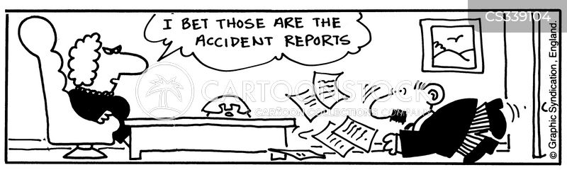 accident report cartoon