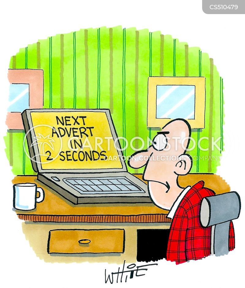 online ad cartoon