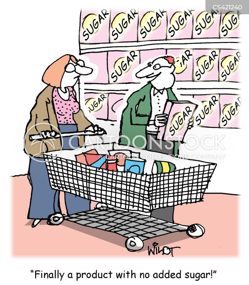 sugar content cartoon