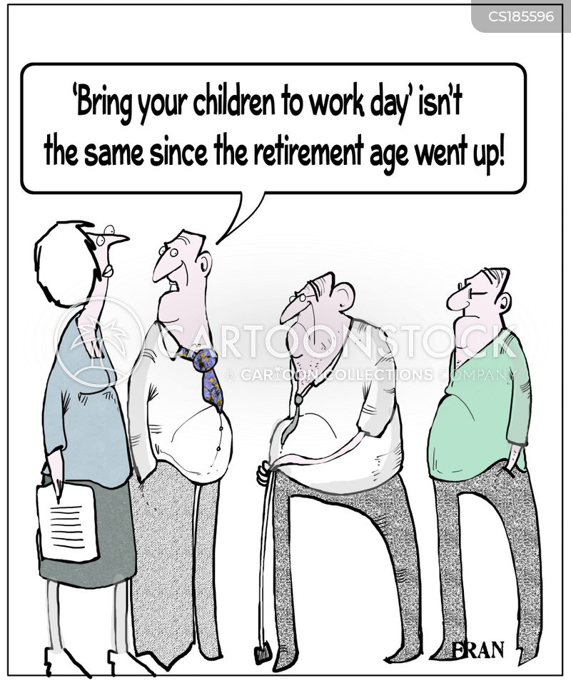 old workers cartoon
