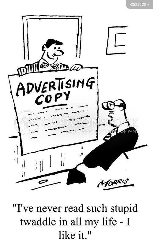 advertising copy cartoon