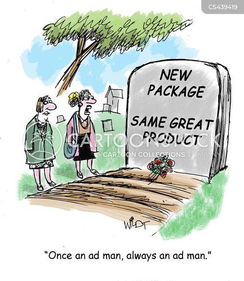 advertising men cartoon