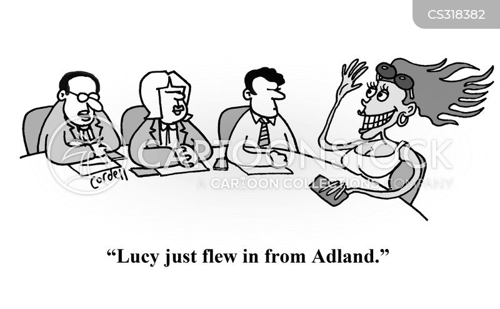 marketing director cartoon