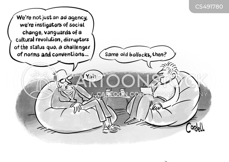 advertising agents cartoon