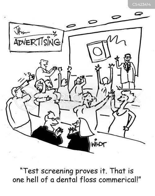 advertising tactics cartoon