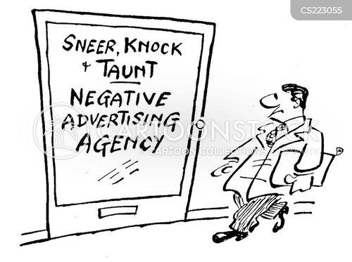 negative advertising cartoon