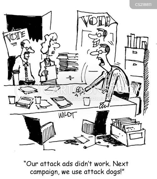 attack advert cartoon