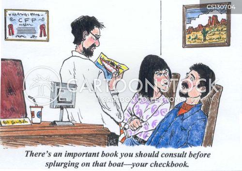chequebooks cartoon