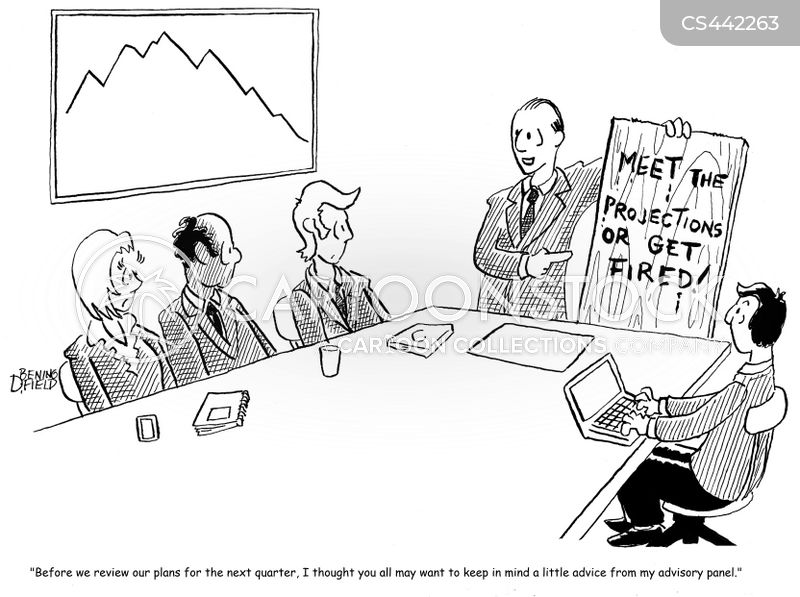 business projections cartoon