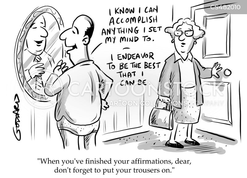 positive thoughts cartoon
