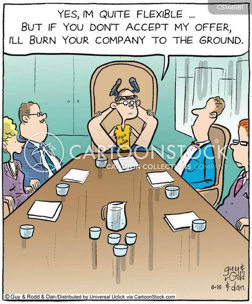 business flexibility cartoon