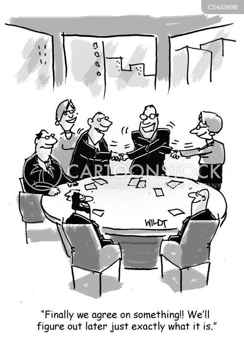 reach an agreement cartoon