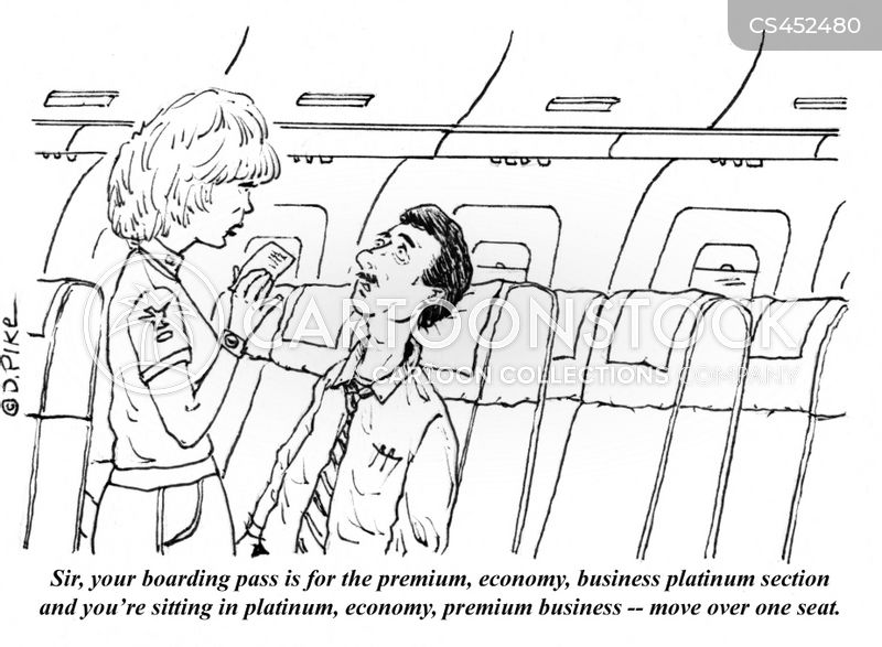airline seat cartoon