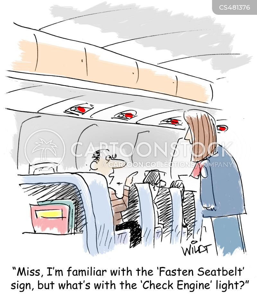 nervous flyer cartoon