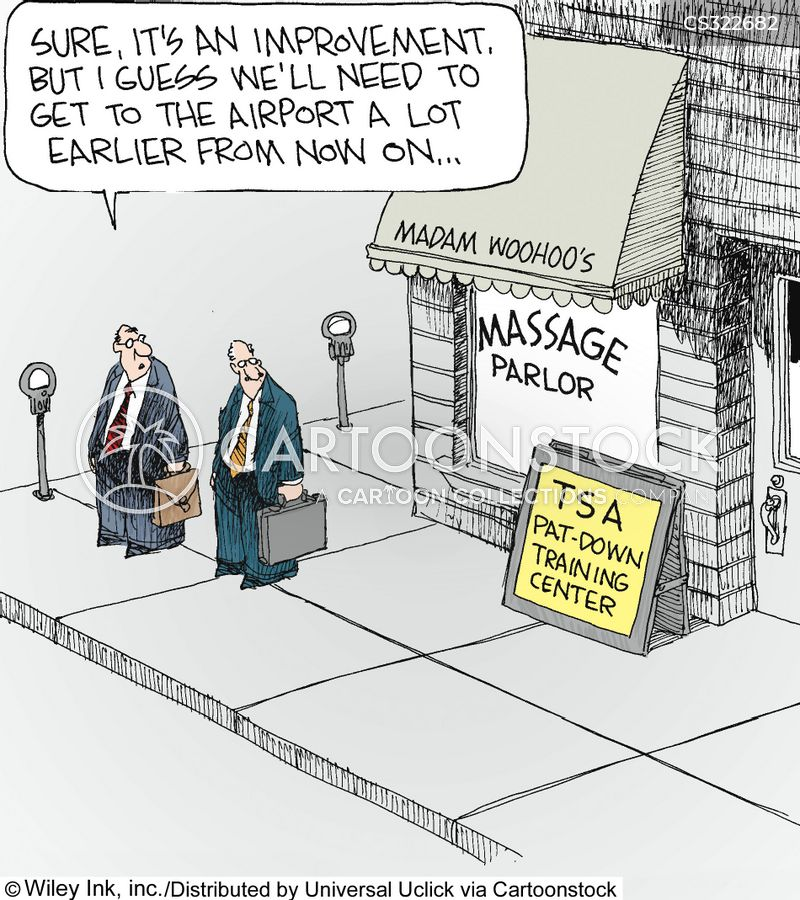 massaging cartoon