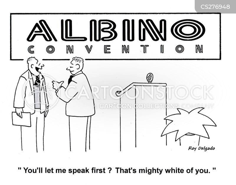 albinos cartoon