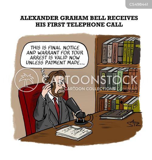 phone scam cartoon