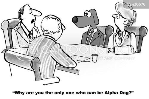 alpha dog cartoon