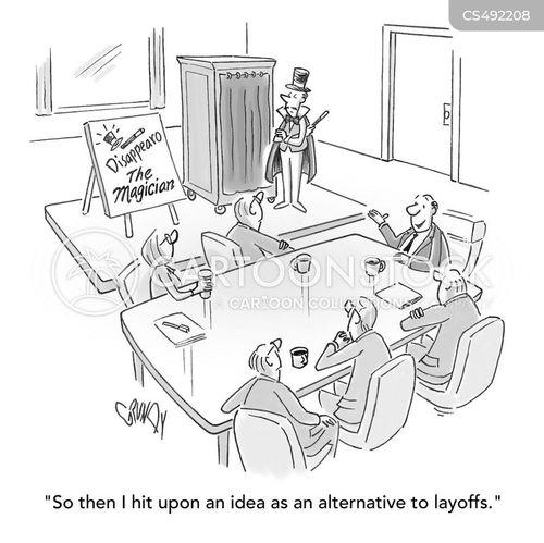 staff reductions cartoon