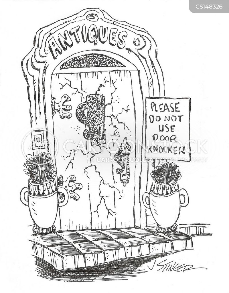 doorknockers cartoon