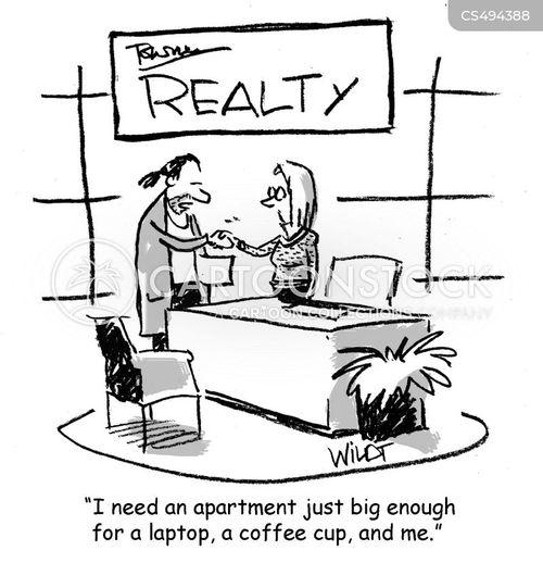 small apartments cartoon