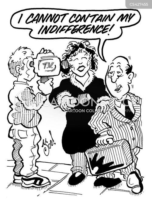 tv interviews cartoon