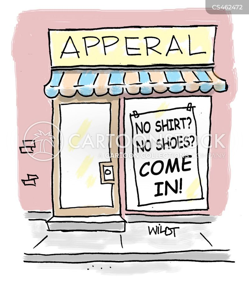 dress store cartoon