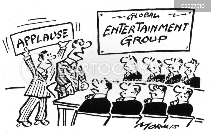 applause sign cartoon
