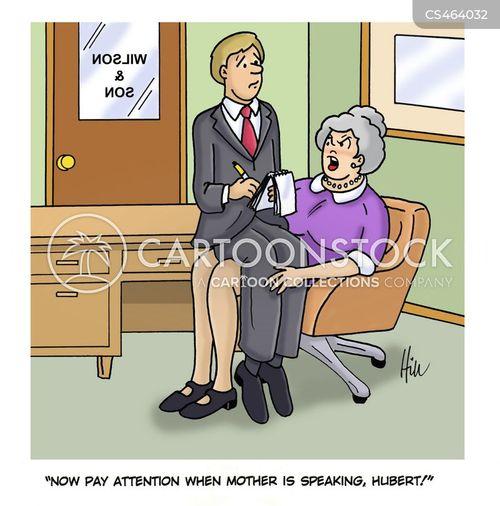apron-strings cartoon