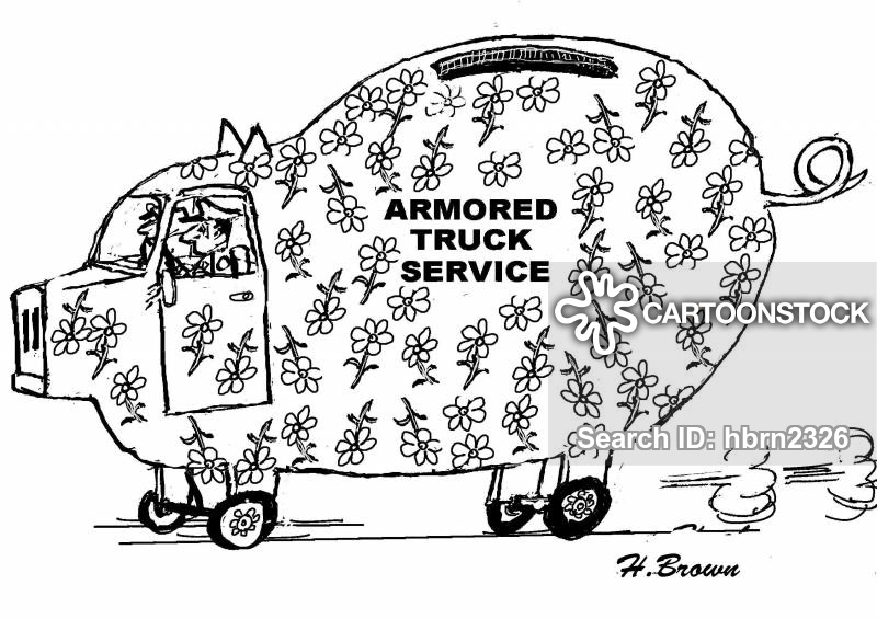 armored trucks cartoon