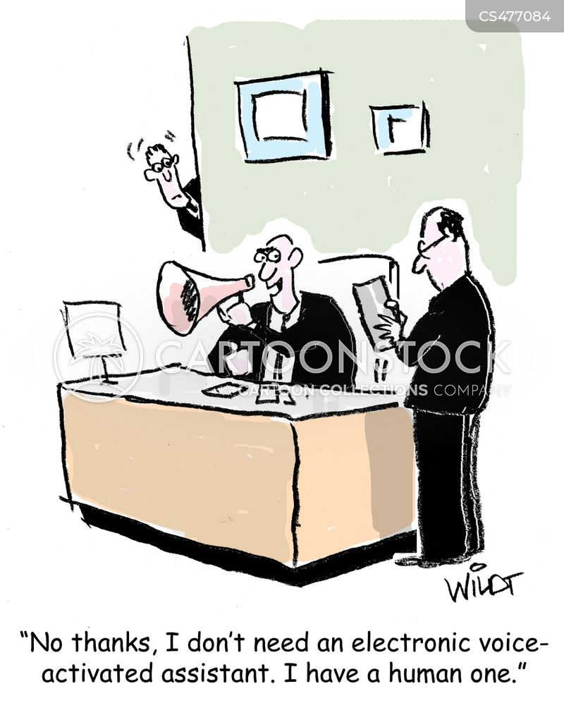 virtual assistant cartoon