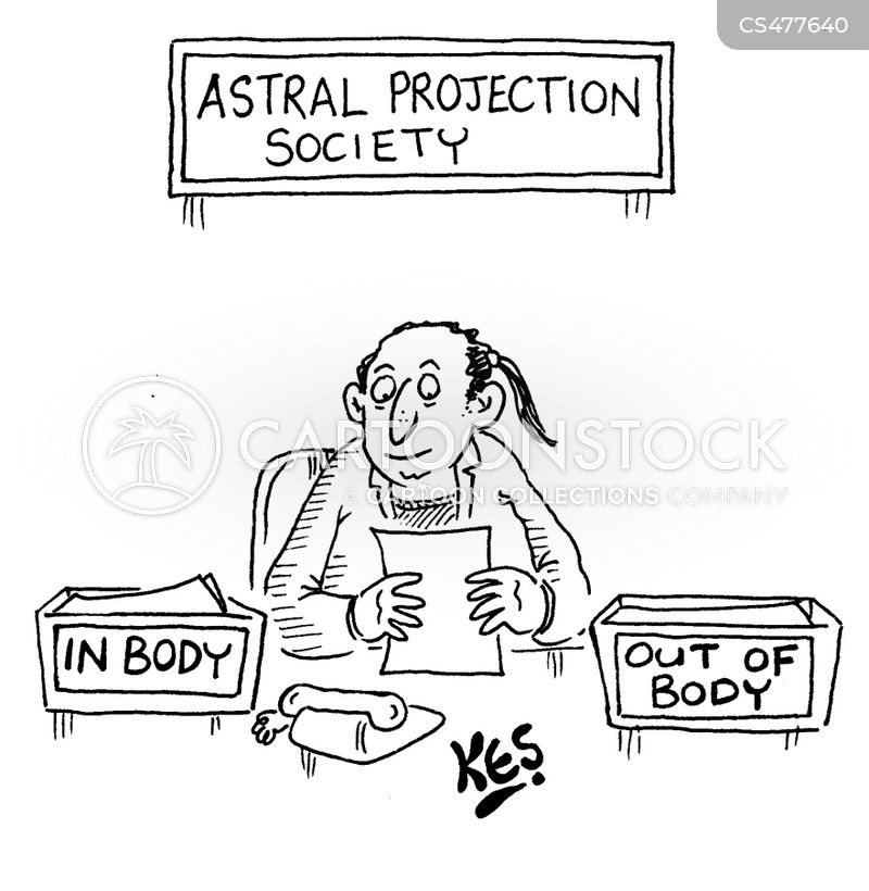 astral projection cartoon