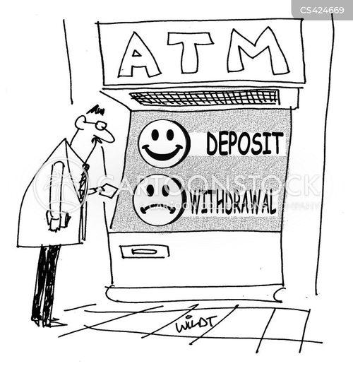 withdrawals cartoon