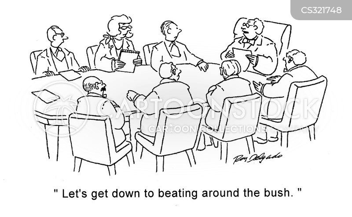 beating around the bush cartoon