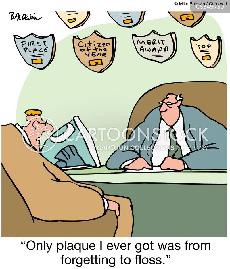 dental plaque cartoon
