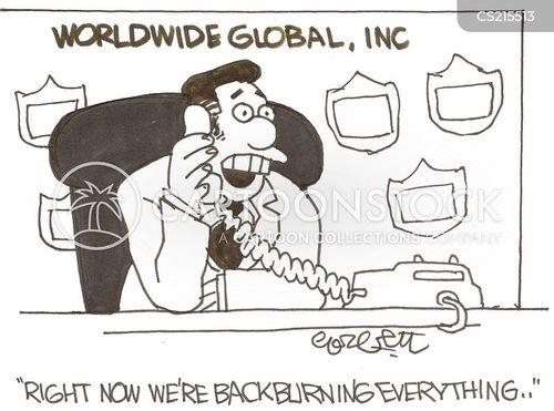 back burner cartoon