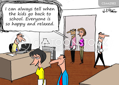 school holidays cartoon