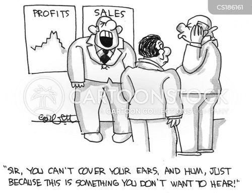 falling profits cartoon