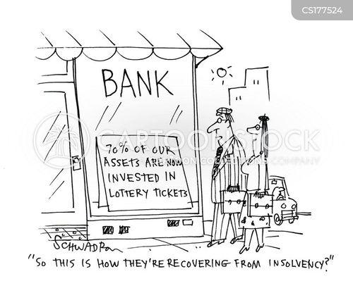 insolvent cartoon