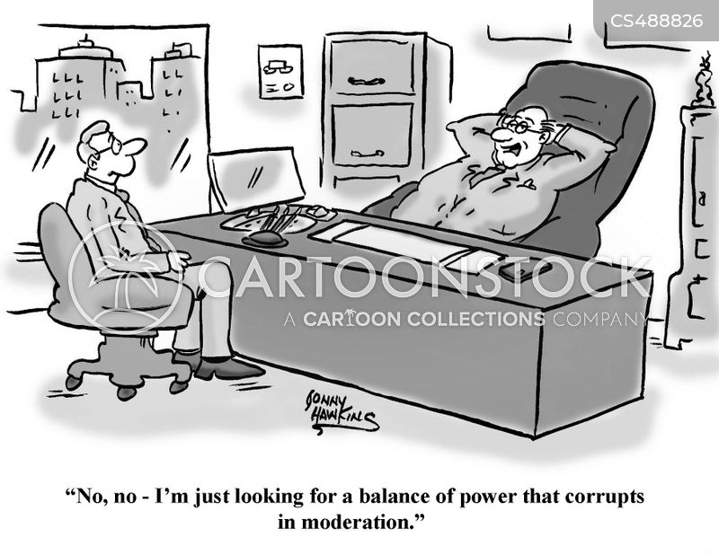 balance of power cartoon